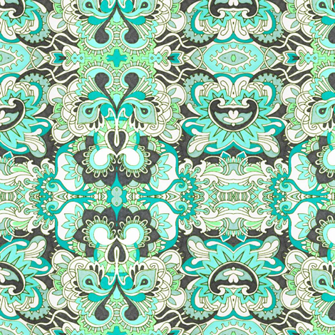 Puff and Stuff fabric by edsel2084 on Spoonflower - custom fabric