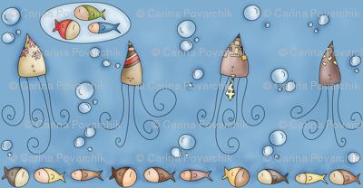 Dreamy Squid - Big version