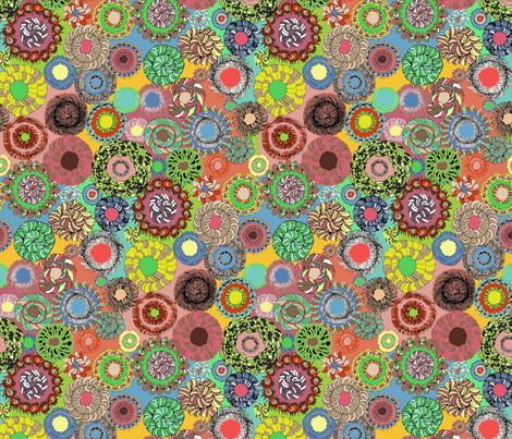 Teja_Williams_Feathery_Circles_2007_copy fabric by teja_jamilla on Spoonflower - custom fabric