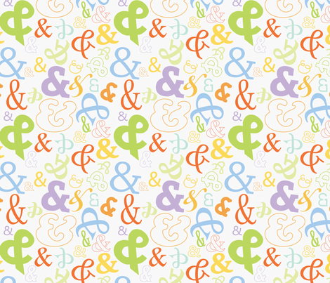 Ampersand Go-Grey! fabric by terriann on Spoonflower - custom fabric