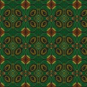 Tear pod flowers - green/brown