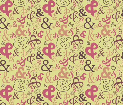 Ampersands: Love & Hope fabric by terriann on Spoonflower - custom fabric