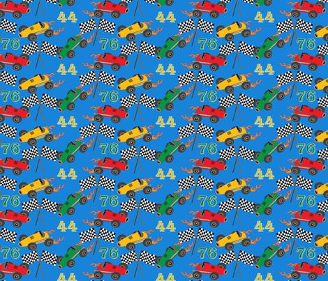 Liam's speedway fabric by littlerhodydesign on Spoonflower - custom fabric
