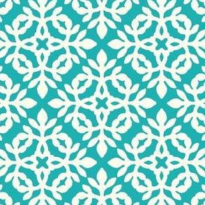 BRIGHT TURQUOISE & cream mini-papercut2