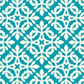 BRIGHT BLUE-TURQUOISE & cream mini-papercut2