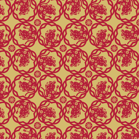 Year of the Monkey - © Lucinda Wei fabric by lucindawei on Spoonflower - custom fabric
