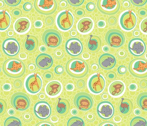 Safari Bubbles fabric by jillianmorris on Spoonflower - custom fabric