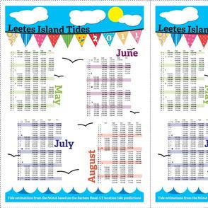 Tea Towel Tide Charts