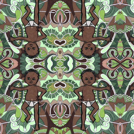Happy Birthday, Devin fabric by edsel2084 on Spoonflower - custom fabric