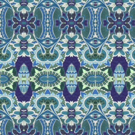 The Anemone And Me fabric by edsel2084 on Spoonflower - custom fabric