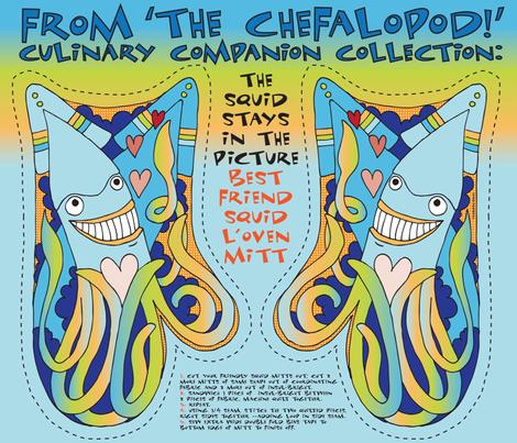 The Chefalopod Squid L'Oven Mitt! fabric by sammyk on Spoonflower - custom fabric