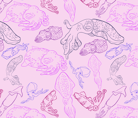 Squid fabric by jenji on Spoonflower - custom fabric