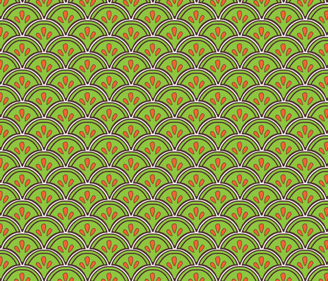 Fan green fabric by madeleine13 on Spoonflower - custom fabric