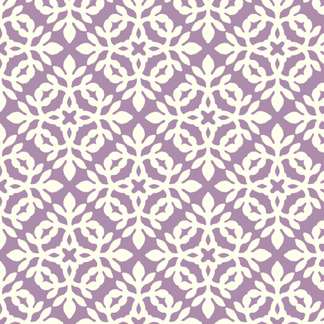 MAUVE & cream mini-papercut2 fabric by mina on Spoonflower - custom fabric