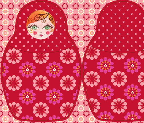 coussin_poupée_russe_rouge fabric by nadja_petremand on Spoonflower - custom fabric