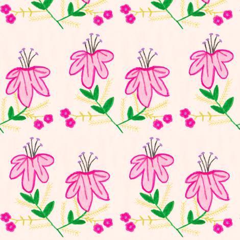 Flora Flower Holly fabric by angelsgreen on Spoonflower - custom fabric