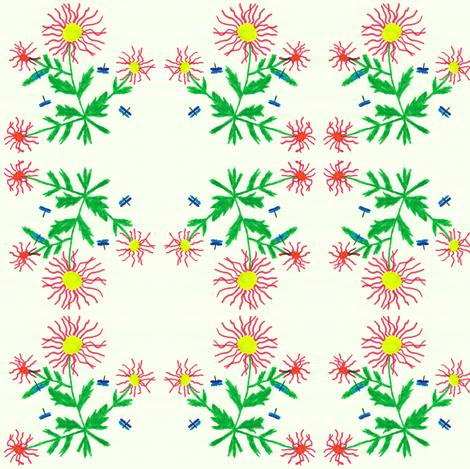 Flora Flower Summerdance fabric by angelsgreen on Spoonflower - custom fabric