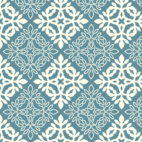 MARINE-BLUE_Mini-papercut3-solid-outlines fabric by mina on Spoonflower - custom fabric