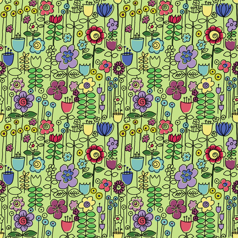 Stem Doodles fabric by woodledoo on Spoonflower - custom fabric