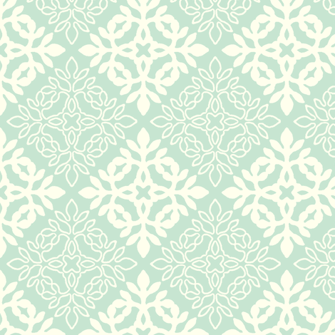LIGHT GREEN mini-papercut3-solid-outlines fabric by mina on Spoonflower - custom fabric