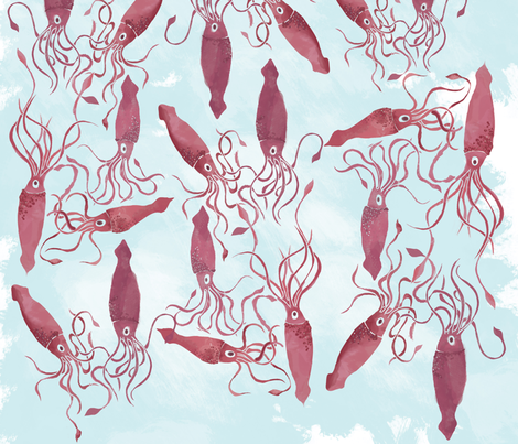 squid_party fabric by wubba_zang on Spoonflower - custom fabric