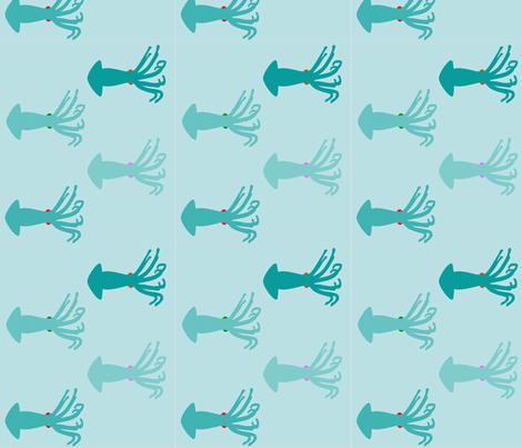 bluesquid fabric by rosapomposa on Spoonflower - custom fabric