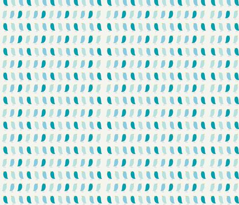 Little Blue Birdies fabric by chimes on Spoonflower - custom fabric
