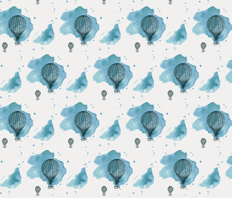 Blue Balloons fabric by *erinred* on Spoonflower - custom fabric
