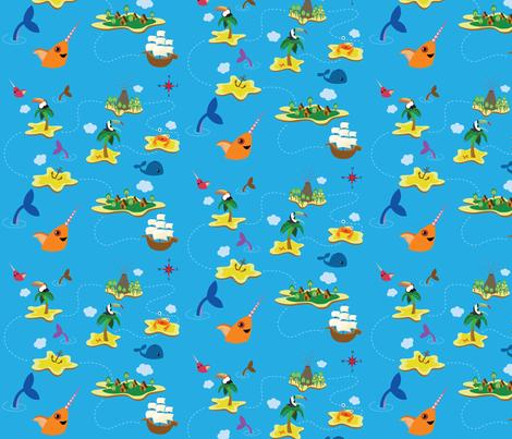 Treasure Map fabric by kimberley302 on Spoonflower - custom fabric