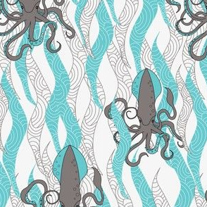 Squid, squid and seaweed