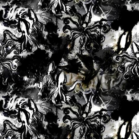 Squid Inked fabric by bellenoel on Spoonflower - custom fabric