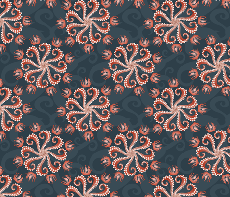 Kraken Roulette fabric by jaana on Spoonflower - custom fabric