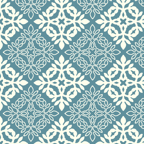 TEAL mini-papercut3-solid-outlines fabric by mina on Spoonflower - custom fabric