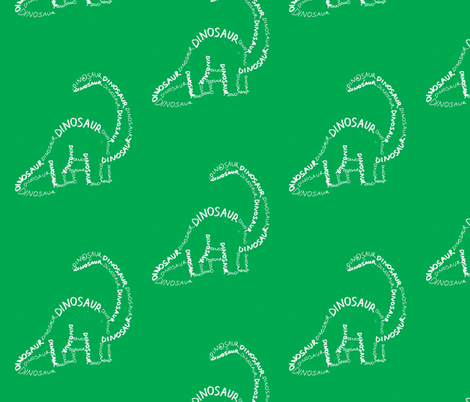 Dinosaur fabric by blue_jacaranda on Spoonflower - custom fabric
