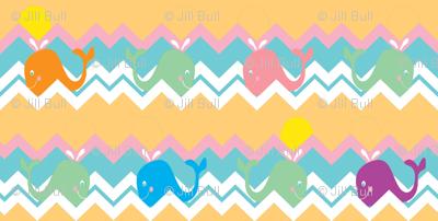 chevron whale ©2012 Jill Bull