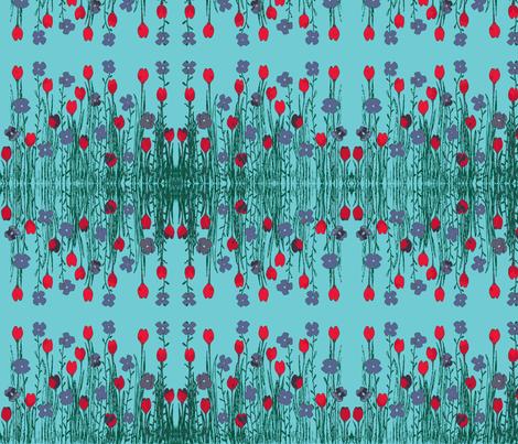 field of flowers fabric by tallulah11 on Spoonflower - custom fabric