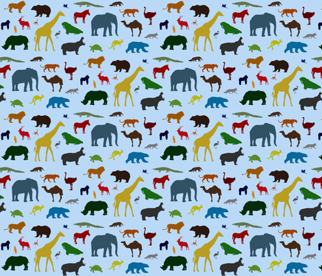 A Day at the Zoo fabric by createdblissfully on Spoonflower - custom fabric