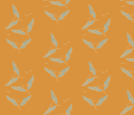 seagulls fabric by starbirdink on Spoonflower - custom fabric