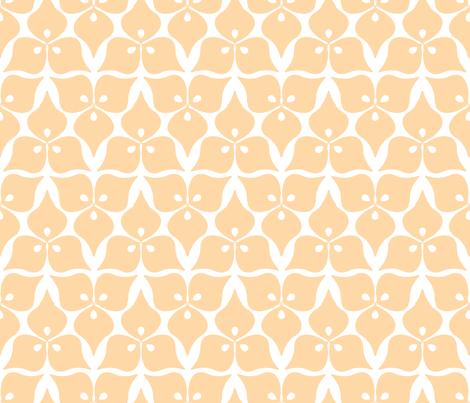 three leaves roze fabric by myracle on Spoonflower - custom fabric