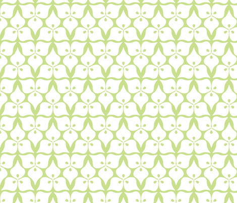 three leaves green fabric by myracle on Spoonflower - custom fabric
