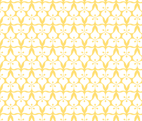 three leaves yellow fabric by myracle on Spoonflower - custom fabric