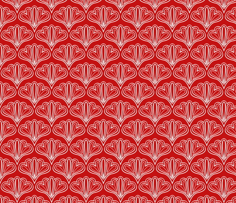 fan outline red fabric by myracle on Spoonflower - custom fabric