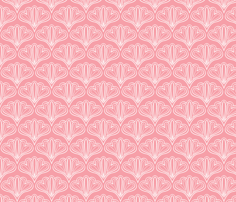 fan outline pink fabric by myracle on Spoonflower - custom fabric