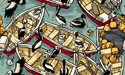 Boats & Pelicans