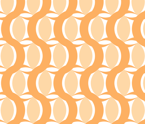 connecting circles peach fabric by myracle on Spoonflower - custom fabric