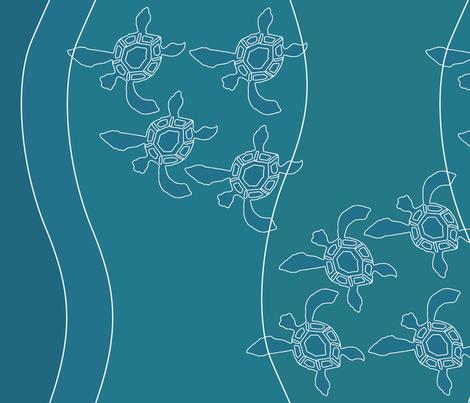 Sea-turtles skirt fabric 58w sea colors fabric by mina on Spoonflower - custom fabric
