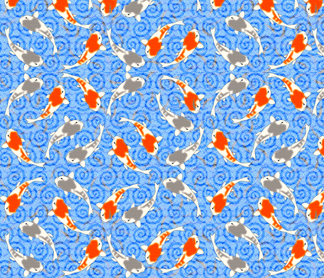 ©2011 Koi Pond fabric by glimmericks on Spoonflower - custom fabric