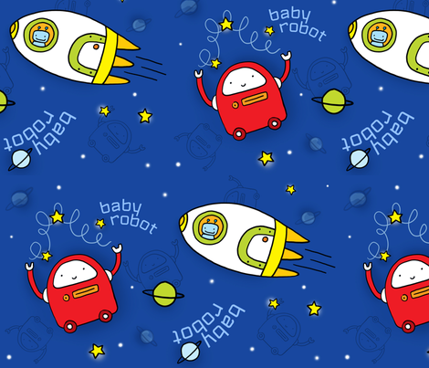 babyrobot fabric by pinomino on Spoonflower - custom fabric