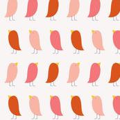 Little Pink Birdie Parade