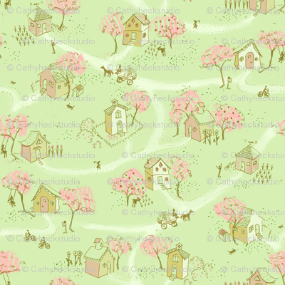 Springtime Map Of Our Little Neighborhood